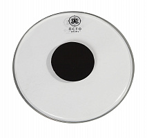 Clear drum heads with black power dot