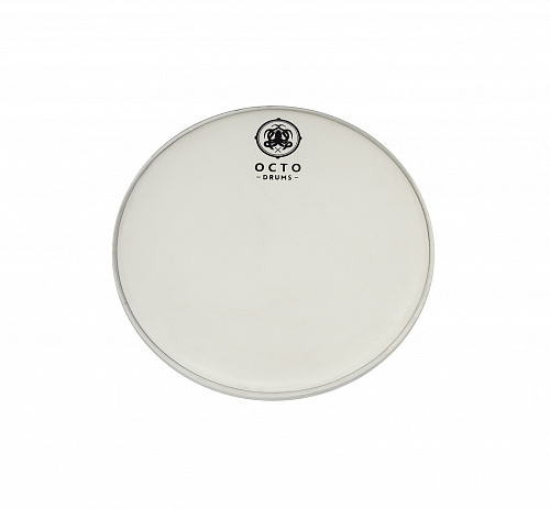 Coated white+clear sound controled drum heads